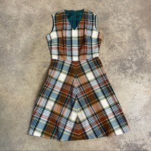 Vintage Summit of Boston Autumn Color Skater Dress